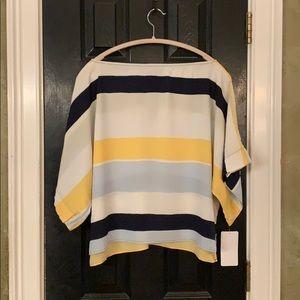 Zara striped oversized crop XS.